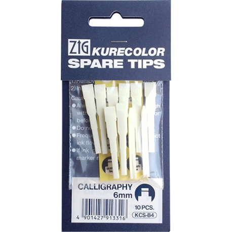 ZIG KURECOLOR PUNTAS CALIGRAFIA 6MM
