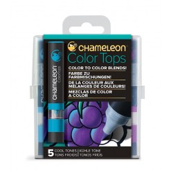 SET 5 COLOR TOPS, CHAMELEON