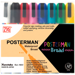 ZIG POSTERMAN 50 SET 8 COLORES 6 MM