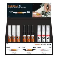 ONE4ALL ACRYLIC TWIN DISPLAY SET, 36 u.